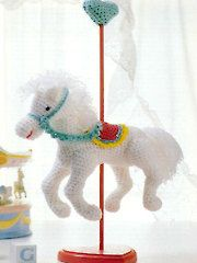 Crochet Downloads for the Home - Carousel Horse