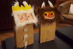 fantastic paper bag puppets inspired by Where the Wild Things Are Paper Bag Crafts, Book Crafts, Diy Paper, Art For Kids, Crafts For Kids, Arts And Crafts, Kid Art, Paper Bag Puppets, Maurice Sendak