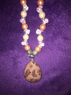 For Sale: ELEGANT PICTURE JASPER ON SALE - PICTURE JASPER (MAP OF THE WORLD......do you see it? SET IN 925 STERLING SILVER ON SALE TILL MOTHER'S DAY  Elegantly paired with soft lavender & baby pink pearls with shaded shells and clear beads ONE of a Kind and Island Made REGULAR PRICE $40 Ships FREE in B.C. or Pick Up in Esquimalt