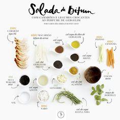 Hoje compartilharemos com vocês a receita de um prato delicioso com um toque oriental e uma apresentação simplesmente incrível: salada de bifum com camarões