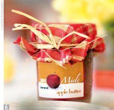 Apple Butter wedding favor idea, yum