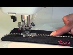 How to use the Janome Sewing Machine Beading Foot - YouTube