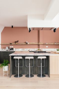 The Sebastian Cox Kitchen by deVOL has it's own unique urban rustic charm.