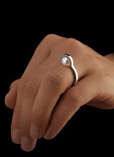 Perlen Ring Mond