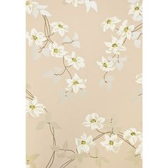 Nina Campbell Malleny Floral Wallpaper ($87) ❤ liked on Polyvore