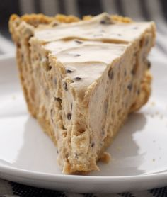 Peanut Butter-Chocolate Chip Pie is a cool, creamy dessert featuring everyone