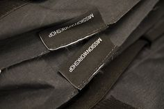 Bag woven labels without binding tape. Mission Workshop, Tape, Band, Ice