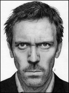 Hugh Laurie_by_LifelessAlarm aka UK Pencil Artist James # Celebrity Drawing Art