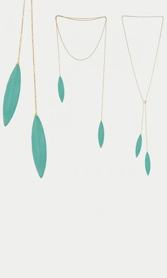 """""""Liv"""" leather feathers long necklace"""