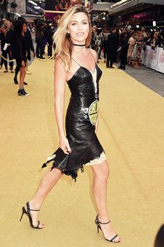 Abbey Clancy attends Absolutely Fabulous The Movie premiere - Leather Celebrities Sexy Outfits, Fall Outfits, Abbey Clancy, Dress Skirt, Bodycon Dress, Latex, Catwalk Models, Black Leather Dresses, Absolutely Fabulous