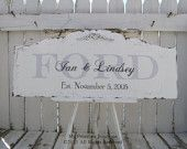Custom made sign... ours came out exactly like the samples... BEAUTIFUL <3