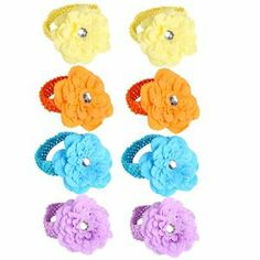 8 Pieces Girls Baby Newborn Child Kids Toddler Infant Knitting Peony Flower Hair Accessories Hairband Headband Headbands Head Band - 4 Colors by Crazy Cart. $4.99. Features: 1. Top quality and special style 2. Many styles for your selection 3. Bright color makes your baby lovely and pretty 4. Made of soft and elastic band, this headband is delicate and comfortable to wear for your baby in spring and summer  Specifications: 1. Color: Yellow,Blue,Orange,Light Purple 2. Material: Fa...