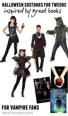 cool halloween costumes for tweens Are your kids (or you!) big vampire fans? If so, these are our fave costumes for Halloween that align completely with the coolest vampires out there!