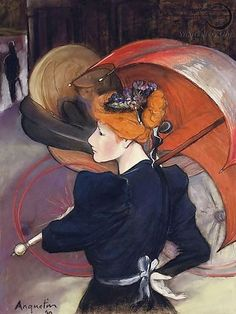 Louis Anquetin ~ Cloisonnism painting style | Tutt'Art@ |