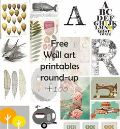 DIY Monday # Free Wall Art printables | Ohoh Blog - diy and crafts