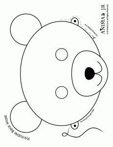 teddy bear picnic- - Printable Animal Masks: Bear Mask Bear Mask to Print and Color – Craft Jr. Teddy Bear Crafts, Teddy Bear Day, Teddy Bear Birthday, Quilt Book, Printable Animal Masks, Animal Mask Templates, Bear Mask, Lion Mask, Goldilocks And The Three Bears