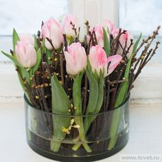 tulpen dekoration tisch - Sturm Witzig Flowers Deliver yourself a career so far, in which you can ma Easter Flower Arrangements, Easter Flowers, Diy Flowers, Fresh Flowers, Spring Flowers, Floral Arrangements, White Flowers, Deco Floral, Arte Floral