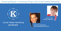 Podcast interview with Phyllis Khare, author of Social Media Marketing eLearning Kit for Dummies and co-author of Facebook Marketing All-In-One for Dummmies with @Andrea Vahl and @Amy Porterfield.  My favorite topics:  -Buying Facbeook fans vs buying Facebook Ads (to get fans) -Why you need your Googleness in order -What it's like to be a published author