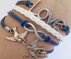 Personality infinite charm bracelet love birds by Coolmybracelet, $4.99
