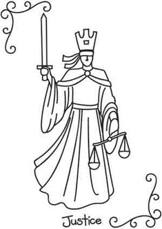 Tarot - Justice UTH2444 Fairness and reason are the qualities signified by the Tarot's balanced Justice card.