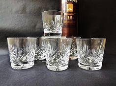 6 Cut #Crystal #Whiskey Tumblers Edinburgh Whisky Glasses