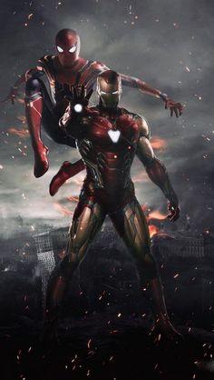 Spiderman and Ironman HD Wallpaper - Avengers Endgame Marvel Dc Comics, Marvel Avengers, Marvel Heroes, Captain Marvel, Captain America, Marvel Art, Iron Man Avengers, Iron Man Spiderman, Spiderman Spiderman