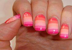 Summer stripe nail art