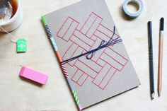 DIY Embroidered Journal - Make your own for all your inspirational thoughts and ideas!