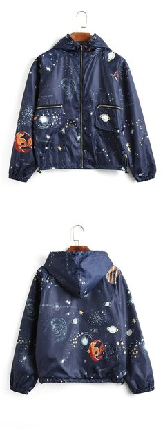 Up to 68% OFF! Galaxy Print Hooded Windbreaker Jacket. #Zaful #Jackets Zaful,zaful outfits,zaful sweaters,fashion,style,tops,outfits,blouses,sweatshirts,hoodies,cardigan, sweater,jackets,coats,outwear,leather jackets,bomber jacket,long coats,denim jacket,black jackets,zip up jackets,fall,winter,winter outfits,winter fashion,fall fashion,fall outfits,christmas,ugly,ugly christmas,thanksgiving,Gift, New Year 2017, New Year Eve. @zaful Extra 10% OFF Code:ZF2017
