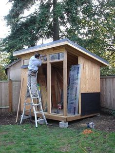 Wooden Storage Shed Plans Free-Free Lawn Ornaments Woodworking Plans Backyard Office, Backyard Studio, Backyard Sheds, Outdoor Sheds, Garden Sheds, Diy Storage Shed, Diy Shed, Firewood Storage, Outdoor Storage