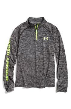 Under Armour HeatGear® Quarter Zip Tech Pullover (Big Boys) | Nordstrom