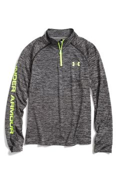 Under Armour HeatGear® Quarter Zip Tech Pullover (Big Boys) | Nordstrom
