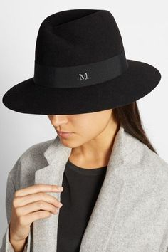 Maison Michel Black Virginie Fedora Hat. Buy it here: http://rstyle.me/n/u4v2qbcukx