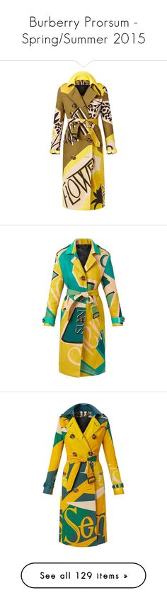 """Burberry Prorsum - Spring/Summer 2015"" by livnd ❤ liked on Polyvore featuring Burberry, BurberryProrsum, collection, springsummer2015, outerwear, coats, jackets, burberry, coats & jackets and print trench coat"
