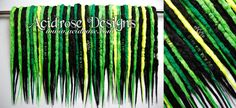Gamer Chic ♥ See more #AcidroseDesigns #synthetic #dreads @ www.facebook.com/acidrosedesigns & www.acidrose.com