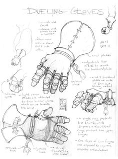 Dueling Gloves by Inkthinker chart   NOT OUR ART please click artwork for source   WRITING INSPIRATION for Dungeons & Dragons DND Pathfinder PFRPG Warhammer 40k Star Wars Shadowrun Call of Cthulhu and other d20 RPG fantasy science fiction scifi horror game design   CREATE YOUR OWN roleplaying game material w/ RPG Bard at www.rpgbard.com