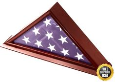 DECOMIL 5x9 Burial/Funeral/Veteran Flag Elegant Display Case with Base New