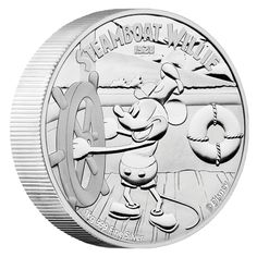 2015 100 Disney Steamboat Willie Mickey Mouse 1 Kilo Silver Proof Coin Limited Mintage Last 5 Pictures Are Of Actual Coin Limited Mintage Only 1928 Exist Worldwide Please Note That On Items Over One Thousand Dollars I Will Require Buyers Co. Disney Films, Disney Cartoons, Walt Disney, Steamboat Willie, Mickey Mouse, Coin Store, Gold And Silver Coins, Steamboats, Proof Coins