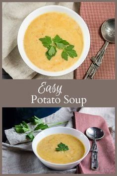 This easy potato soup recipe is the perfect dish to make on a cold day, and will warm you from your head down to your toes.