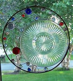 Upcycled Stained Glass Suncatcher