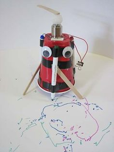 Robotics science project Art bot making a robot drawing.