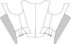 Indumentaria valenciana jubón s. XVIII Knitting Patterns, Sewing Patterns, Historical Clothing, Dress Patterns, Fashion Outfits, How To Make, Clothes, Queen Anne, Summer Vibes