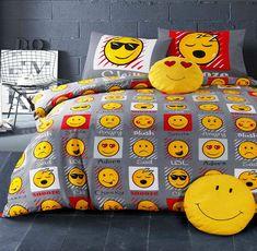 Expressions/Emoji/Tête/Souriant tête/émoticônes/Housse De Couette Set De Literie in Maison, Monde de l'enfant, Literie enfants | eBay