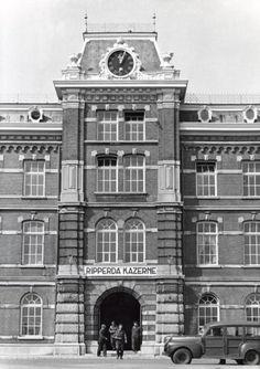 Ripperda-kazerne aan de Kleverlaan. Haarlem, datum onbekend.