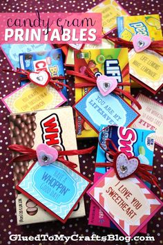 Valentine's Day Candy Grams {Free Printable} – Gift Ideas Candy Sayings Gifts, Candy Quotes, Candy Gifts, Birthday Candy Grams, Birthday Coupons, Employee Appreciation Gifts, Valentine Crafts, Valentine Ideas, Valentine Activities