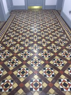 RT @stoneedgeuk - Newly restored floor at Chesterfield college, carefully done, nice and neat