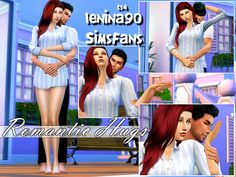 Sims 4 Updates: Sims Fans - Poses : Romantic Hugs poses by lenina_90, Custom Content Download!
