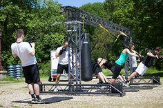 Het mobiele Multi functionele fitness frame van M3Fsport maakt het mogelijk om snel overal een trainingslocatie te creëren.