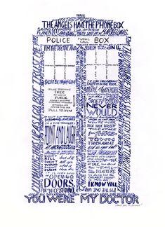 doctor who quotes David Tennant TARDIS Tenth Doctor Blackwork, Doctor Who Quotes, Don't Blink, Torchwood, Geek Out, David Tennant, Dr Who, Word Art, Geek Stuff