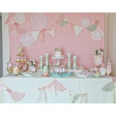 Vintage Pink Doily Tea Party Birthday Party